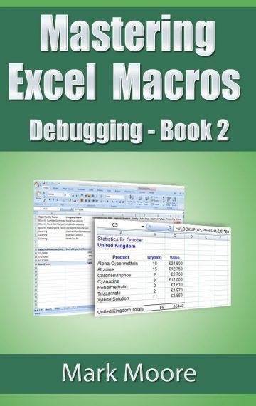 Mastering Excel Macros: Debugging (Book 2)