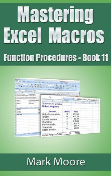 Mastering Excel Macros: Function Procedures (Book 11)