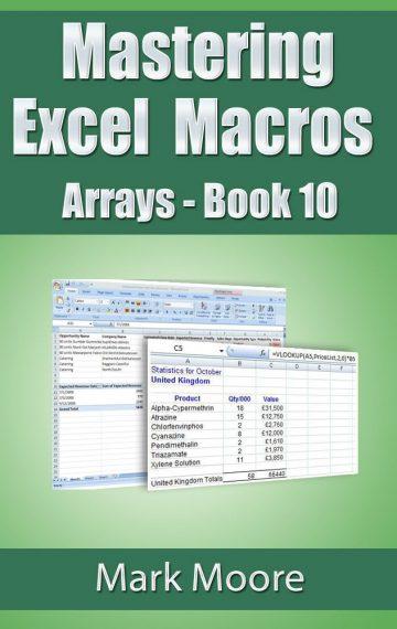 Mastering Excel Macros: Arrays (Book 10)