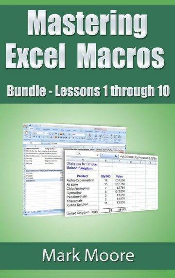Mastering Excel Macros Bundle: Lessons 1 – 10