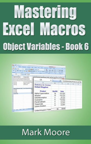 Mastering Excel Macros: Object Variables (Book 6)